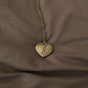Jewelry - Lock necklace with engraved J